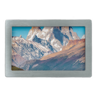 Lake and Andes Mountains, Patagonia - Argentina Rectangular Belt Buckle