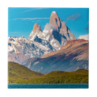 Lake and Andes Mountains, Patagonia - Argentina Tile