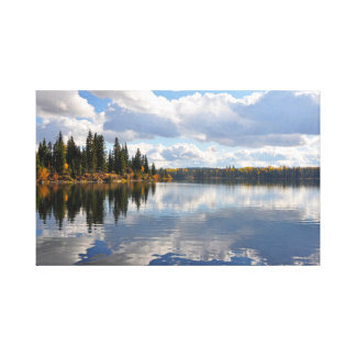Lake and forest scene canvas print