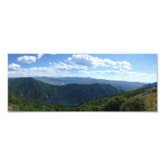 Lake and Hills Panorama Art Photo