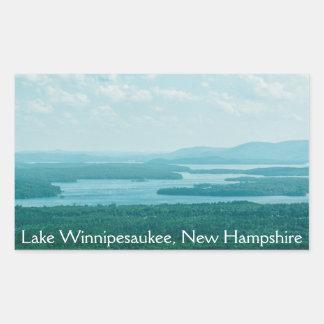 Lake and Mountain View Rectangular Sticker
