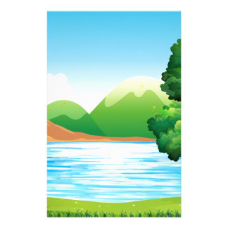 Lake and park stationery design