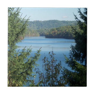 Lake and Trees Ceramic Tile