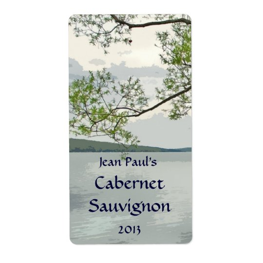 Lake and Willow Wine Label