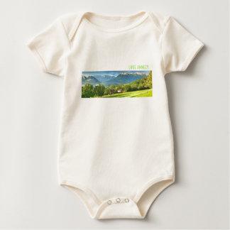 Lake Annecy Organic Baby Vest Baby Bodysuit