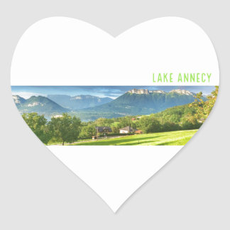 Lake Annecy Stickers (heart)