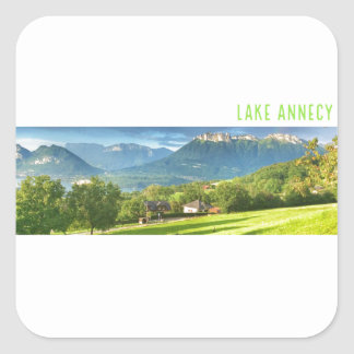 Lake Annecy Stickers (square)