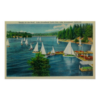 Lake Arrowhead, CA Yacht Club Racing Poster