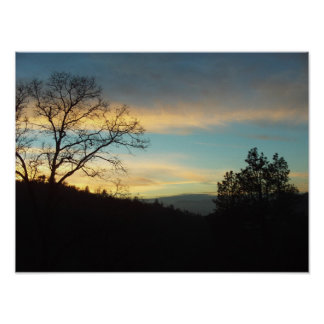Lake Arrowhead Sunset Poster