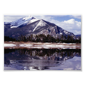 Lake at Rocky Mountains Colorado Photo Print