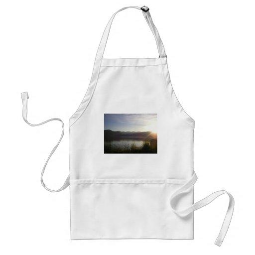 lake at sunset apron