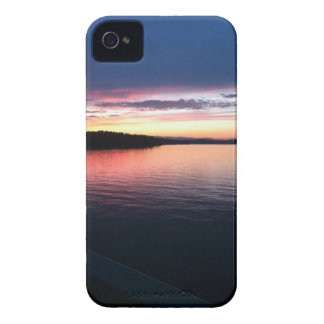 Lake at sunset iPhone 4 cover