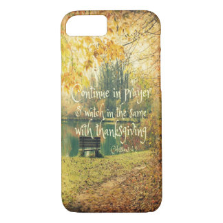 Lake Bench with Prayer Bible Verse iPhone 8/7 Case