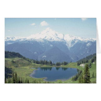 Lake Between The Mountains Card