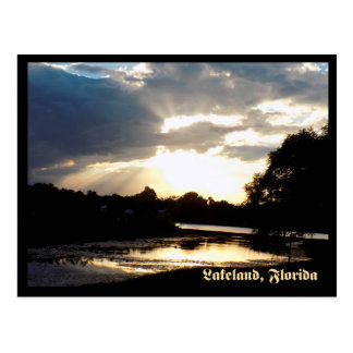 Lake Bonny Lakeland Florida at Sunset  1 Postcard