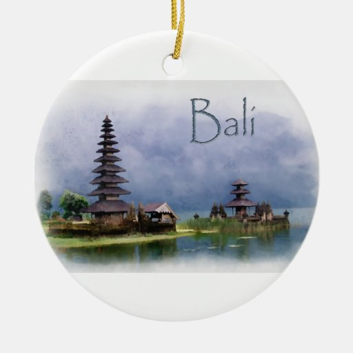 Lake Bratanan Bali Indonesia Ornament