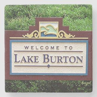 Lake Burton, Welcome Marble Stone Coasters. Stone Coaster