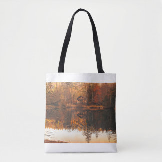 Lake Cabin Tote Bag
