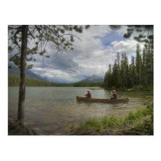 Lake Canoeing Postcard