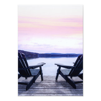 Lake chairs invite