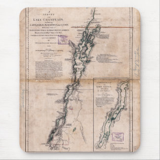 Lake Champlain Lake George Crown Point Map (1776) Mouse Pads