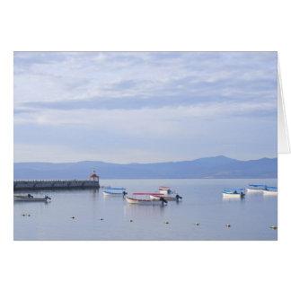 Lake Chapala Skiffs and Pier Card