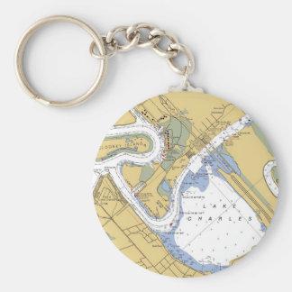 Lake Charles, Louisiana Nautical Harbor Chart keys Key Ring