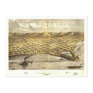 Lake City, Wabasha County, Minnesota (1867) Canvas Print