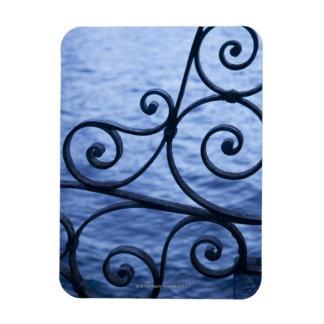 Lake Como, detail, view of walkway iron railing Vinyl Magnet