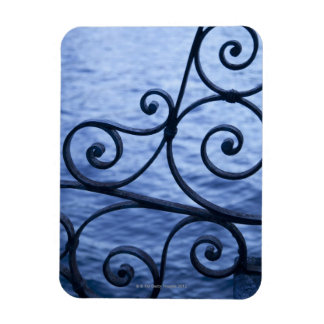 Lake Como, detail, view of walkway iron railing Rectangular Photo Magnet