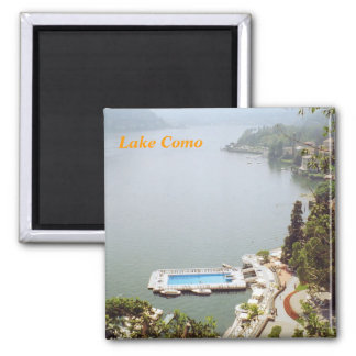 Lake como fridge magnet
