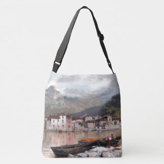 Lake Como Italy Boats Houses Tote Bag