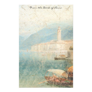 Lake Como Italy Boats Summer Stationery