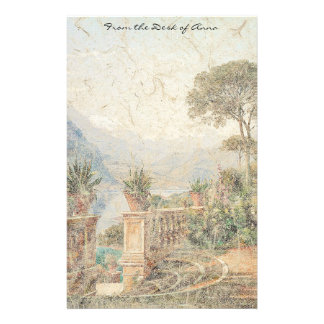 Lake Como Italy Flowers Lodge Balcony Stationery