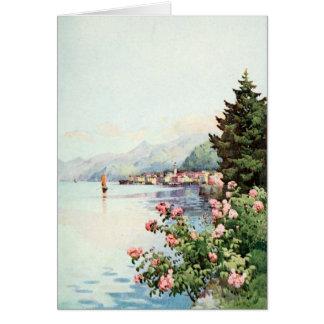 Lake Como Roses Card