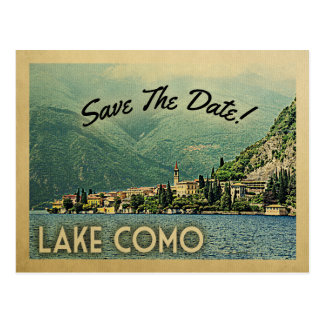 Lake Como Save The Date Menaggio Italy Postcard