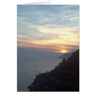 Lake Como Sunset Note Card