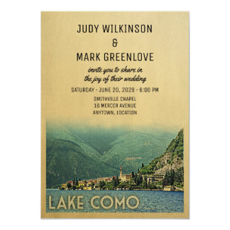 Lake Como Wedding Invitation Menaggio Italy