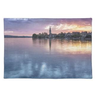 lake Constance Christmas city lights landscape Placemat