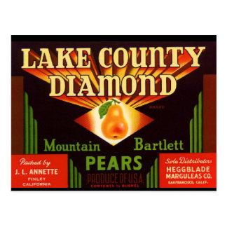 Lake County Diamond Pears Postcard