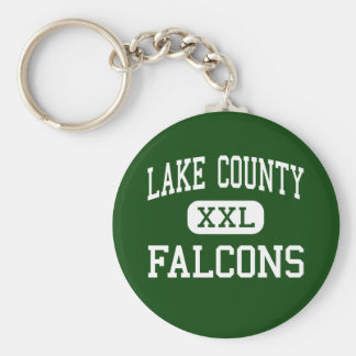 Lake County - Falcons - High - Tiptonville Basic Round Button Key Ring
