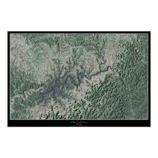 Lake Cumberland Kentucky, Kentucky satellite poste Poster