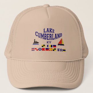 Lake Cumberland KY Sig Flag Trucker Hat