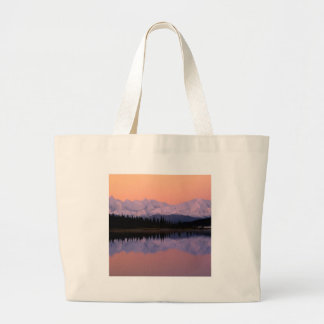 Lake Denali Sunrise Wonder Alaska Tote Bags