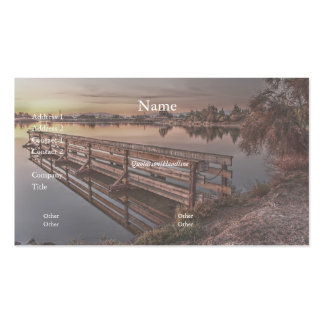 Lake Dock at Sunrise Business Card Business Card Templates
