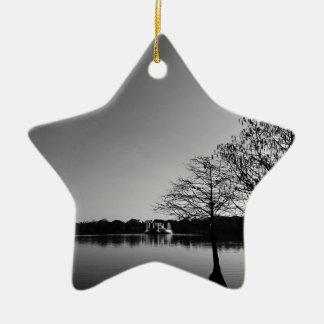 Lake Downtown Ceramic Ornament