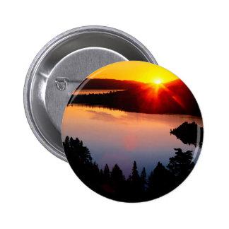 Lake Emerald Bay Tahoe Sunset Pinback Button