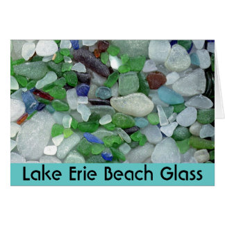 Lake Erie Beach Glass Card