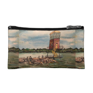 Lake Erie Causeway in Sandusky, Ohio Cosmetic Bag