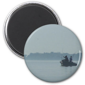 Lake Erie Fisherman 6 Cm Round Magnet